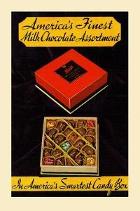 Kings; America's Finest Milk Chocolate Assortment by Curt Teich & Company