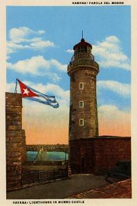 Lighthouse In Morro Castle by Curt Teich & Company