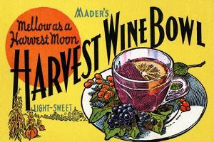Mader's Harvest Wine Bowl by Curt Teich & Company