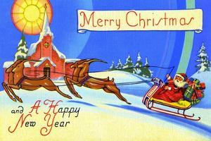 Merry Christmas And A Happy New Year by Curt Teich & Company