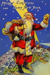 Merry Christmas And Happy New Year by Curt Teich & Company