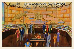 Smoke Havana Cigars by Curt Teich & Company