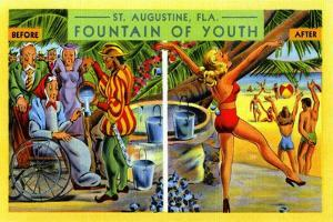 St. Augustine FL. Fountain Of Youth by Curt Teich & Company