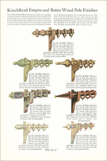 Curtain Hardware Catalog--Art Print