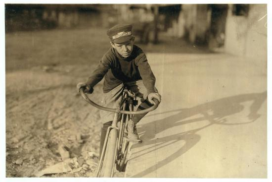 Curtin Hines Aged 14, Western Union Messenger for 6 Months, Houston, Texas, 1913-Lewis Wickes Hine-Photographic Print
