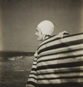 Woman in Bathing Cap by Curtis Moffat