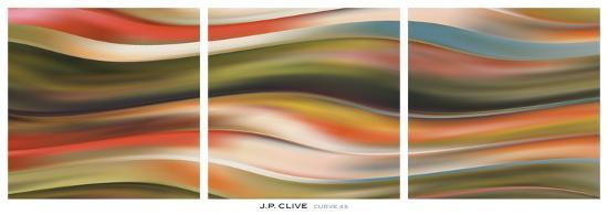 Curve 45 (triptych)-J^P^ Clive-Art Print
