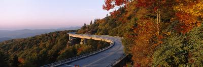 Curved Road over Mountains, Linn Cove Viaduct, Blue Ridge Parkway, North Carolina, USA--Photographic Print