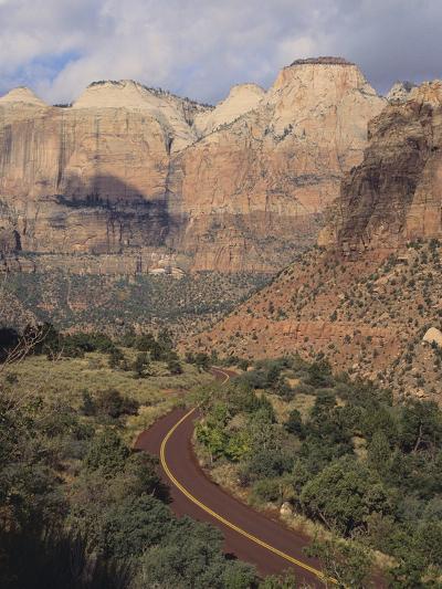 Curving Rural Road--Photographic Print