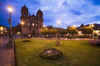 Cusco Cathedral Basilica of the Assumption of the Virgin at Night, Peru-Matthew Williams-Ellis-Photographic Print