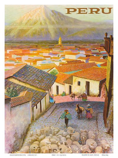 Cusco, Peru c.1950?s-F^C^ Hannon-Art Print