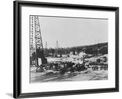 Cushing Oil Fields--Framed Photographic Print