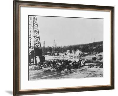 Cushing Oil Fields--Framed Photographic Print