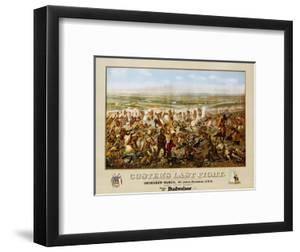 Custer's Last Fight Color Print from Painting