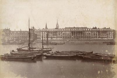 Custom House and Billingsgate Market, London, C.1885--Photographic Print