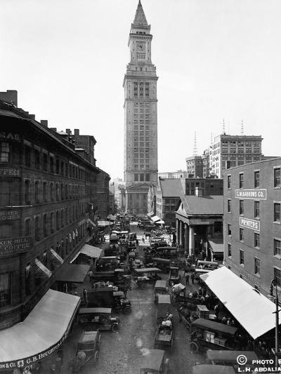 Custom House and Commercial Street--Photographic Print
