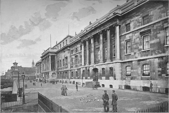 Custom House, City of London, 1911-Unknown-Photographic Print