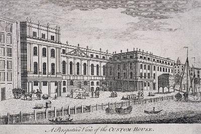 Custom House, London, 1800-William Watts-Giclee Print