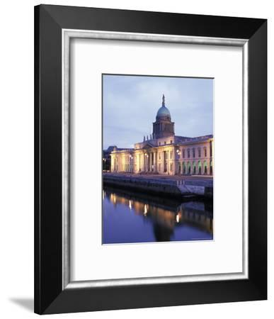 Custom House on Liffey River in Dublin, Ireland-Richard Nowitz-Framed Photographic Print
