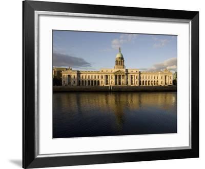 Custom House Quay on the Liffey River, Dublin, Republic of Ireland, Europe-Oliviero Olivieri-Framed Photographic Print