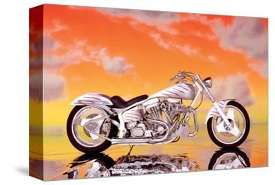 Custom Motorcycle--Stretched Canvas Print