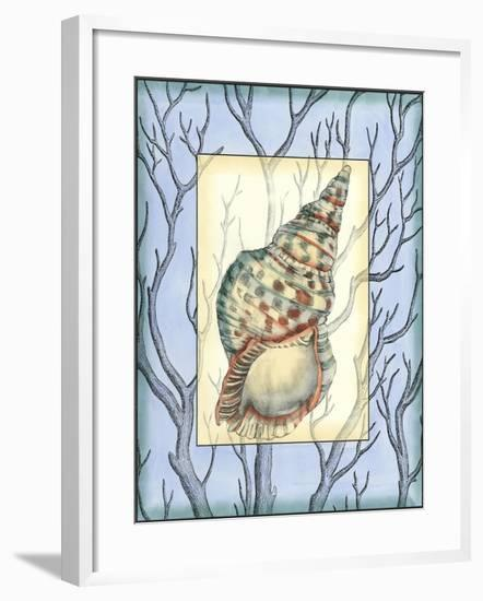 Custom Shell Inset Composition I-Jennifer Goldberger-Framed Art Print