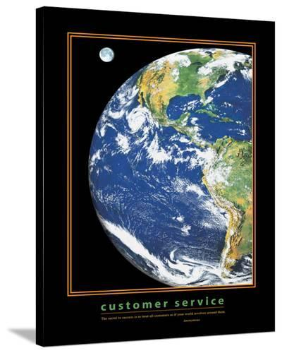 Customer Service--Stretched Canvas Print