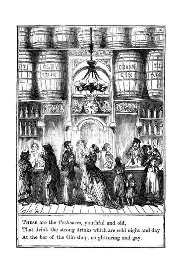 Customers from the Gin-Shop by Cruikshank-George Cruikshank-Giclee Print