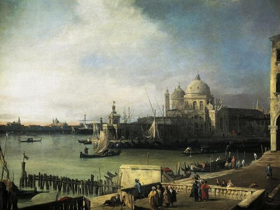 Customs and Salute Church in Venice, 1726-1728-Giovanni Antonio Canal-Giclee Print