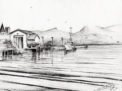 Customs Boat at Oban, 2007-Vincent Alexander Booth-Giclee Print