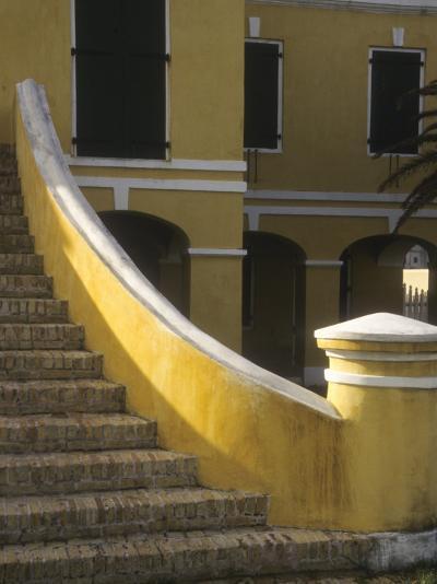 Customs House Exterior Stairway, Christiansted, St. Croix, US Virgin Islands-Alison Jones-Photographic Print
