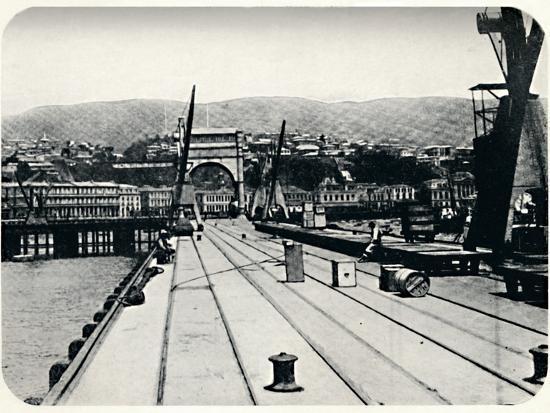'Customs' Pier, Valparaiso', 1911-Unknown-Photographic Print