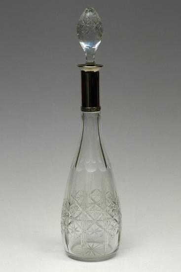 Cut Crystal Bottle with Drop-Shaped Top, Ca 1915, Italy--Giclee Print