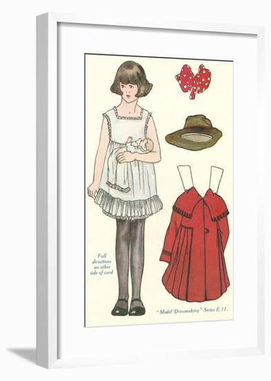 Cut-out Paper Doll, Little Girl--Framed Art Print