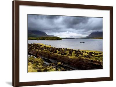 Cut Turf at Lough Inagh in Connemara, Ireland-Chris Hill-Framed Photographic Print