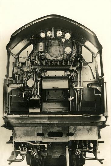 Cutaway View of Train Engine--Art Print