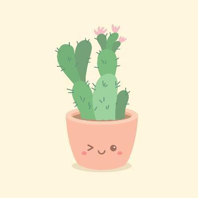 Cute_Cactus_5-anitnov-Art Print