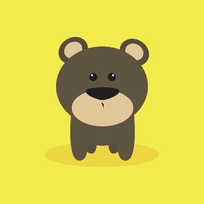 Cute Cartoon Bear-Nestor David Ramos Diaz-Art Print