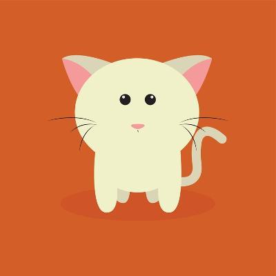 Cute Cartoon Cat-Nestor David Ramos Diaz-Art Print