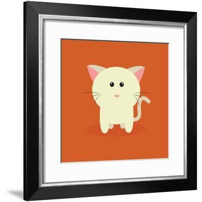Cute Cartoon Cat-Nestor David Ramos Diaz-Framed Art Print