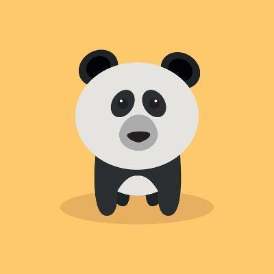 Cute Cartoon Panda-Nestor David Ramos Diaz-Art Print