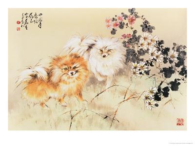Cute Dogs-Wong Luisang-Giclee Print