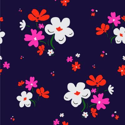 Cute Floral Pattern in Vector- WorkingPens-Art Print
