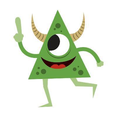 Cute Green Monster-Jimmy Messer-Giclee Print