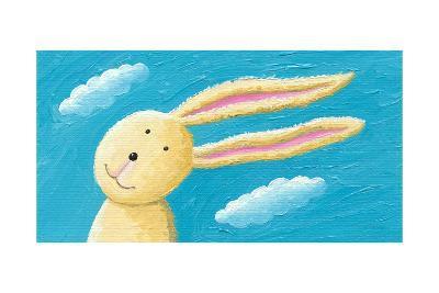 Cute Rabbit in the Wind-andreapetrlik-Art Print