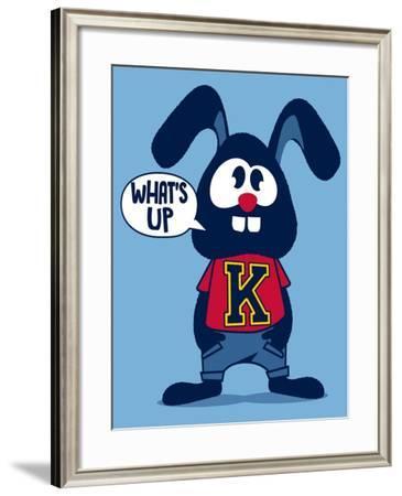 Cute Rabbit- braingraph-Framed Art Print