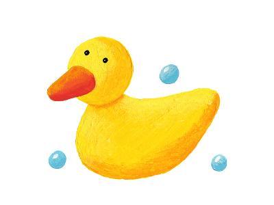 Cute Rubber Duck-andreapetrlik-Art Print