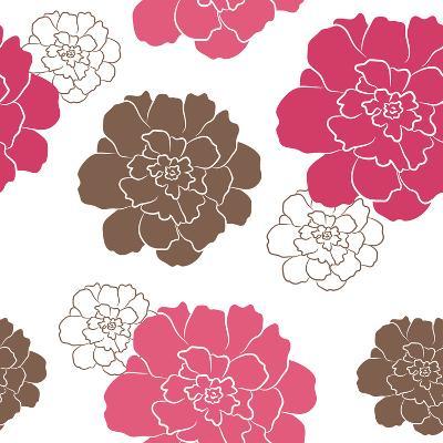 Cute Spring or Summer Floral Pattern-Anika388-Art Print