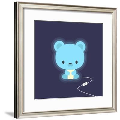 Cute Teddy Bear Night Light-Snopek Nadia-Framed Premium Giclee Print