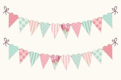 shabby chic easter decor on sale.htm cute vintage heart shaped shabby chic textile bunting flags ideal  shabby chic textile bunting flags